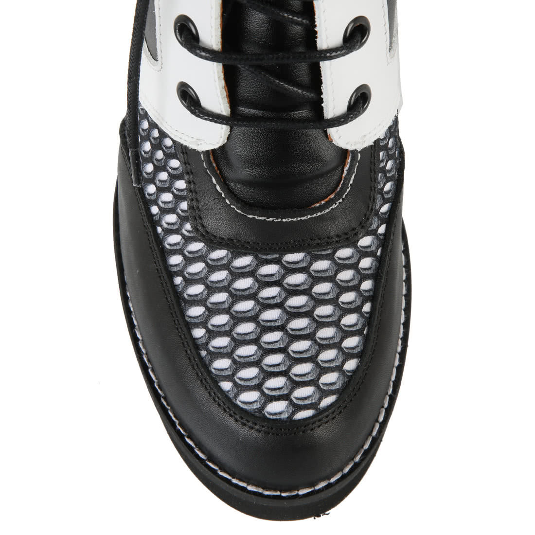 Buffalo Black Wedge Ankle Boots In Netted Look Buy Online