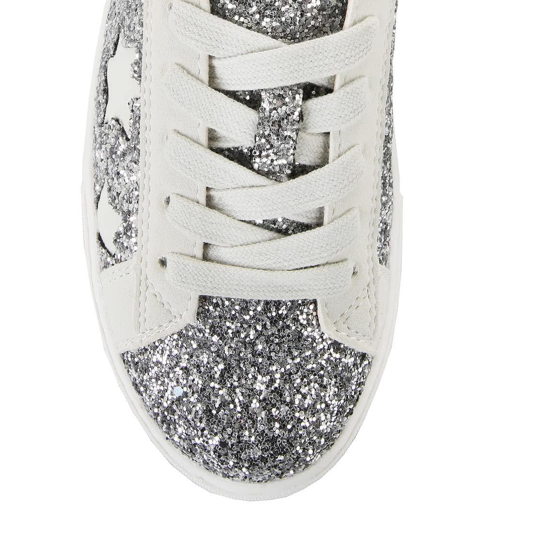 new product 37ebe 455f1 Buffalo Plateau-Sneaker in weiß/silber glitzer online kaufen ...