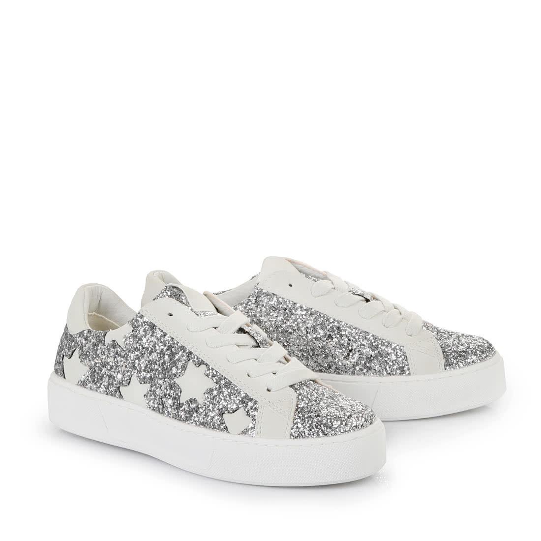 new product f6736 2bf5a Buffalo Plateau-Sneaker in weiß/silber glitzer online kaufen ...