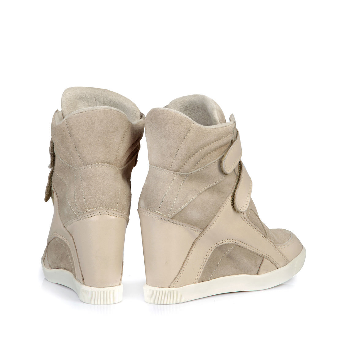 quality design fa794 a8846 Buffalo wedge heeled trainers in beige buy online in BUFFALO ...