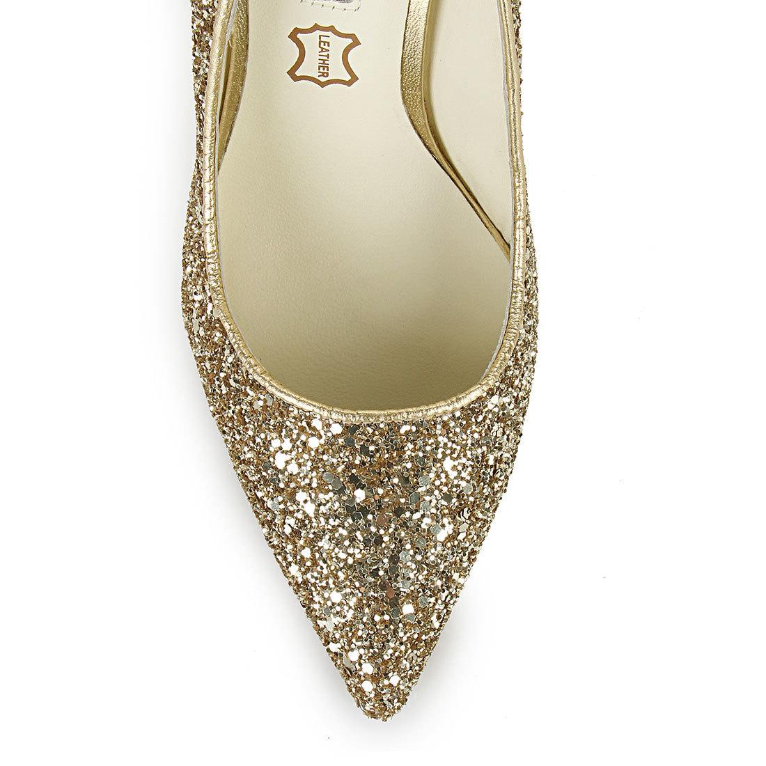 50e9990ff607 Buffalo glitter pumps in gold buy online in BUFFALO Online-Shop ...