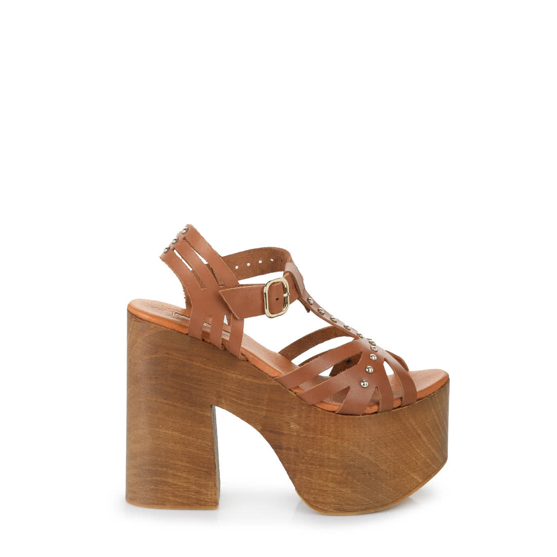 closer at discount shop various styles Buffalo platform sandals in brown buy online in BUFFALO ...