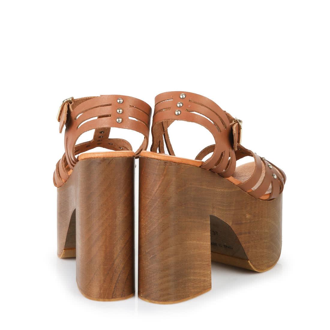 Buffalo Platform Sandals In Brown Buy Online In Buffalo