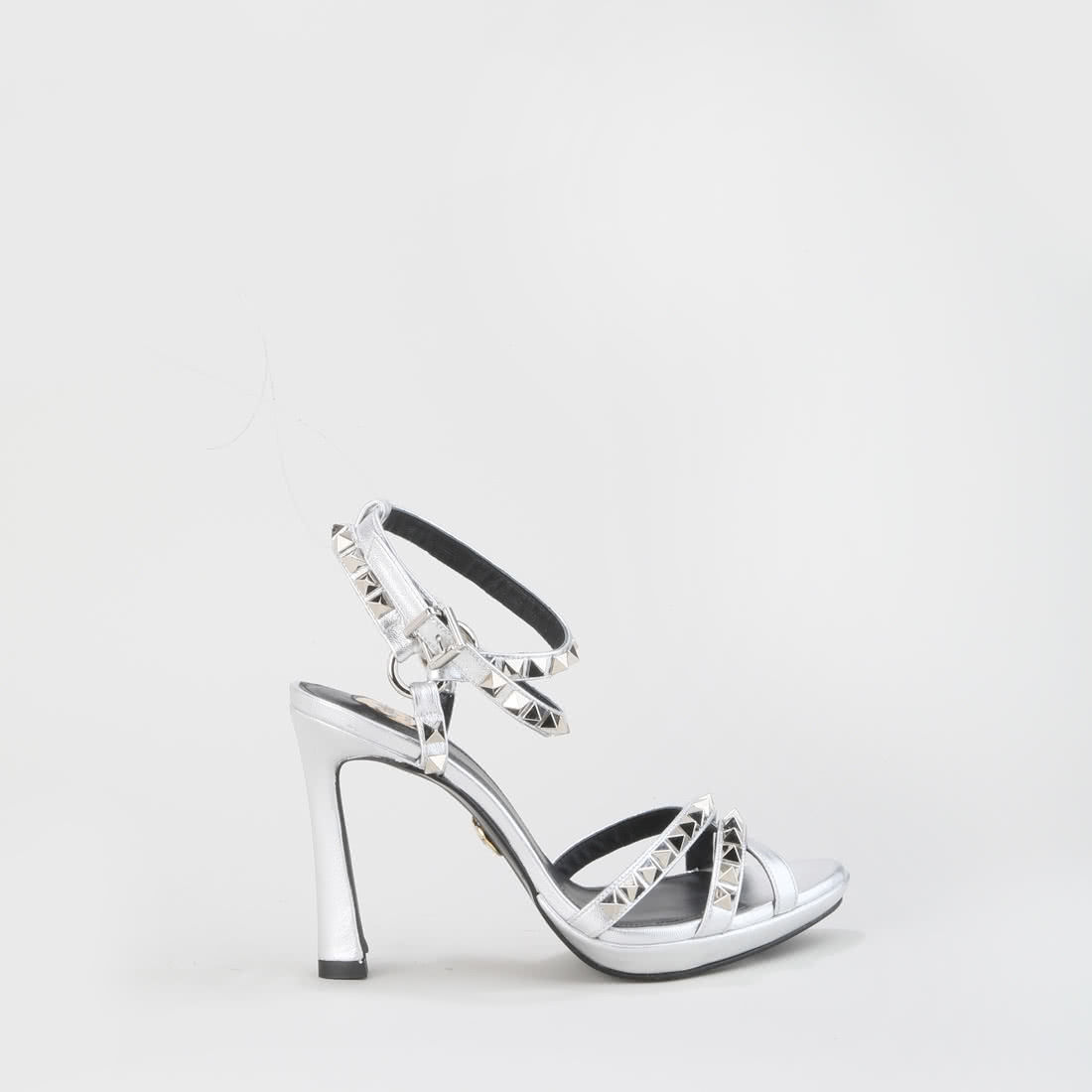 eca1ea7780 Rose Shadow high-heeled sandal leather silver buy online in BUFFALO ...
