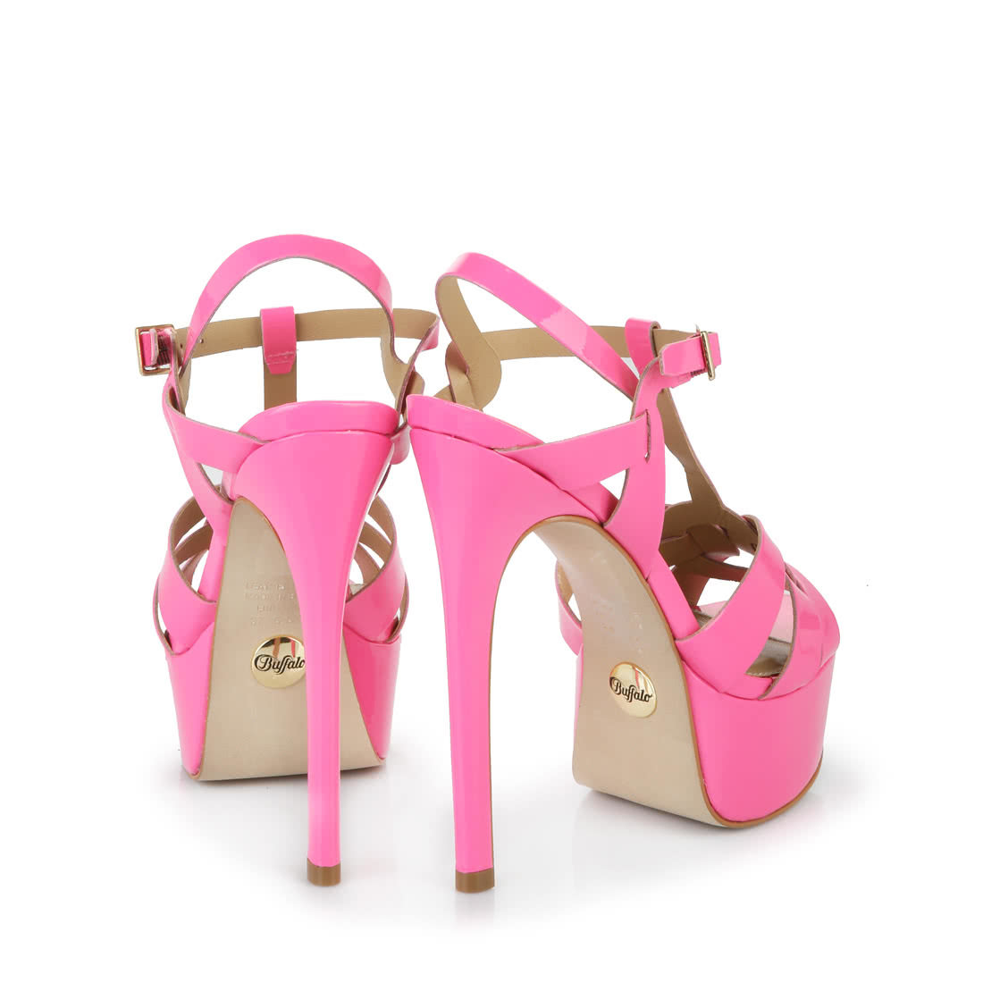 2cc2af5606cd0d Buffalo heeled sandals in neon pink buy online in BUFFALO Online ...