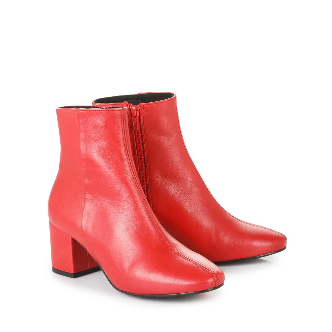 online store 7696f 08fd4 Buffalo Blockabsatz Stiefelette in rot online kaufen | BUFFALO®