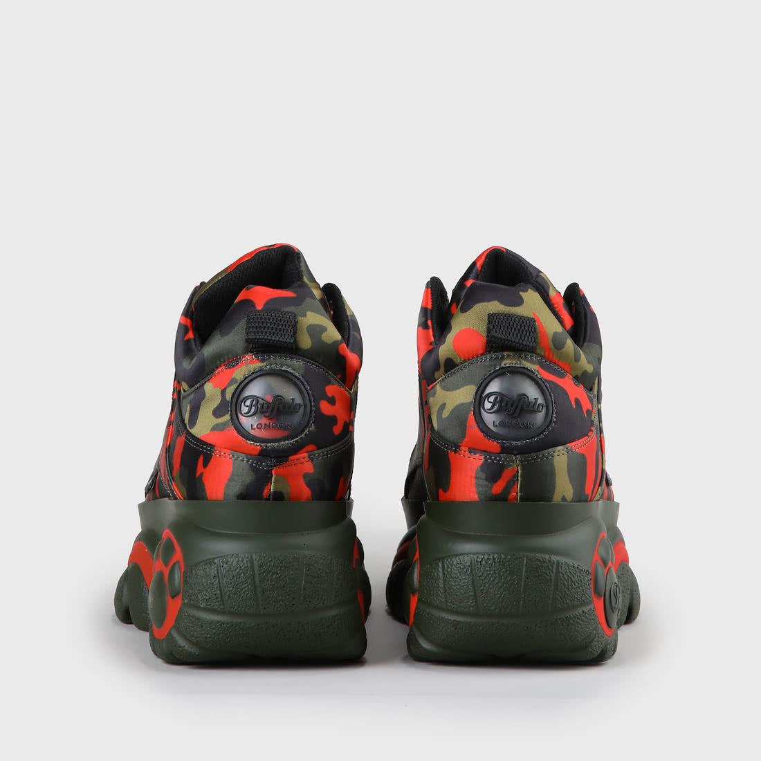 on sale bf437 3ce23 Buffalo Classic Plateau-Sneaker Nylon Camouflage
