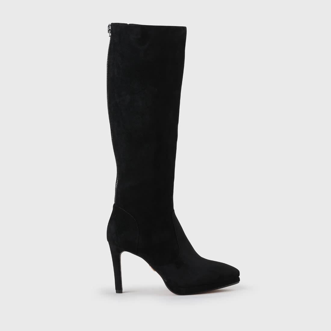 acheter similicuir noir à Bottes plate forme Fabienne WE2DH9I