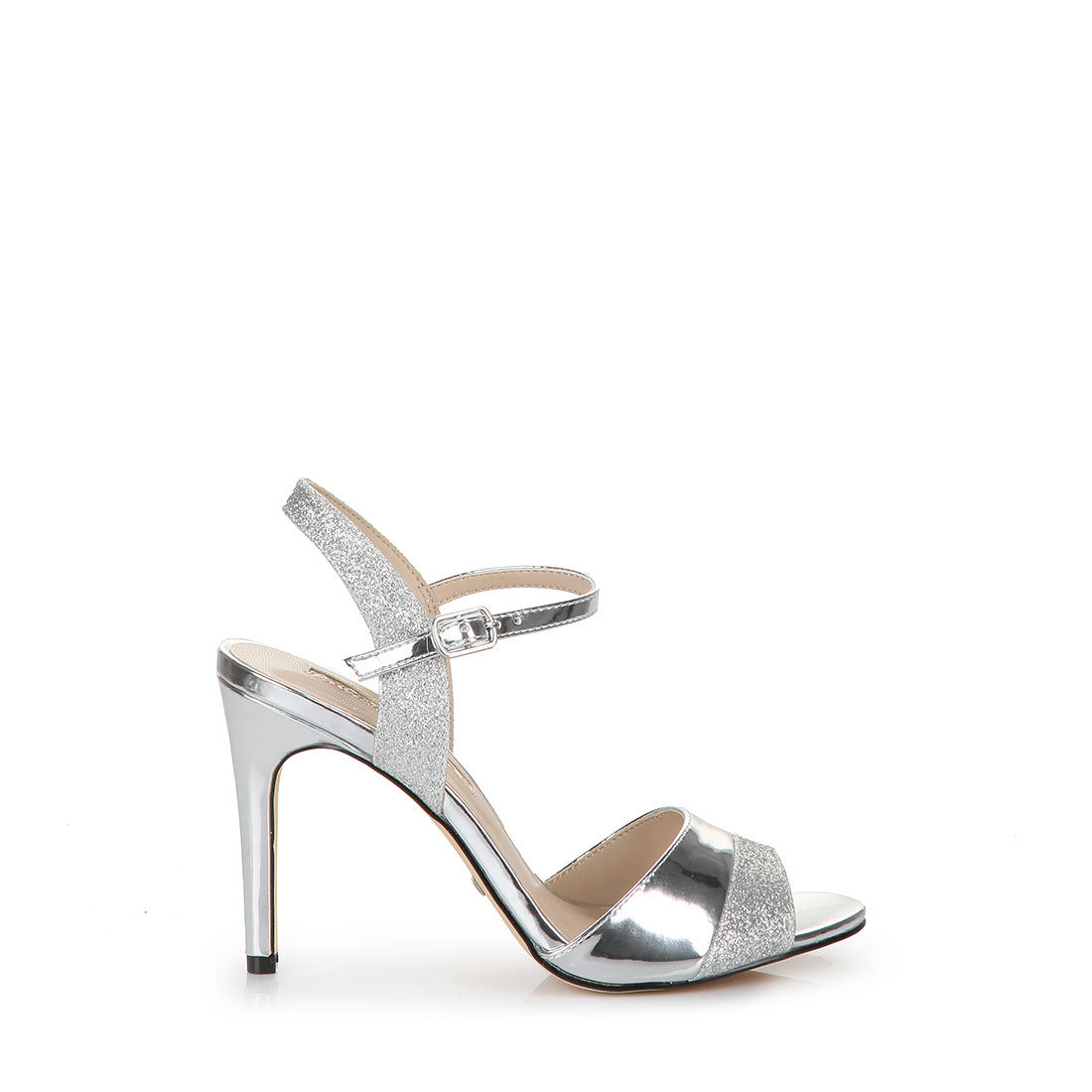 33712cb78efea0 Buffalo high-heeled sandals in silver buy online in BUFFALO Online ...