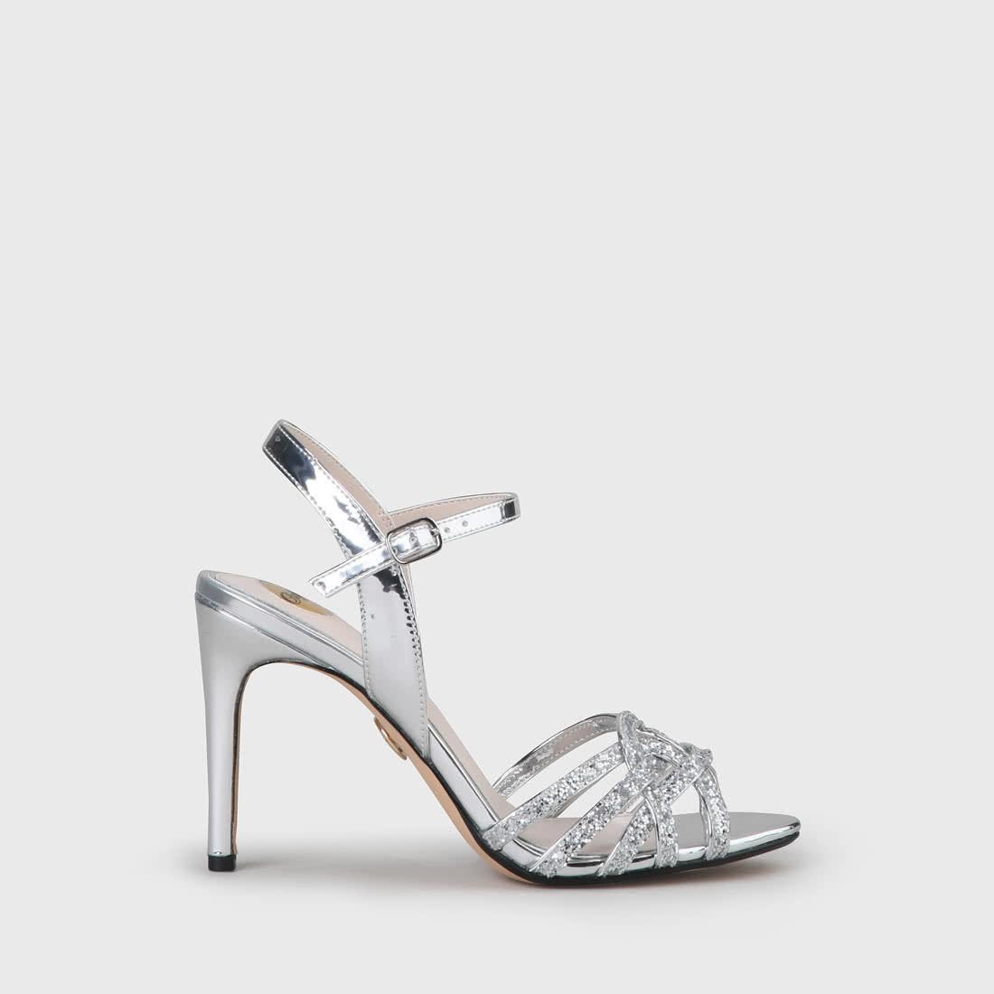 JANNA High Heel Sandalette silver