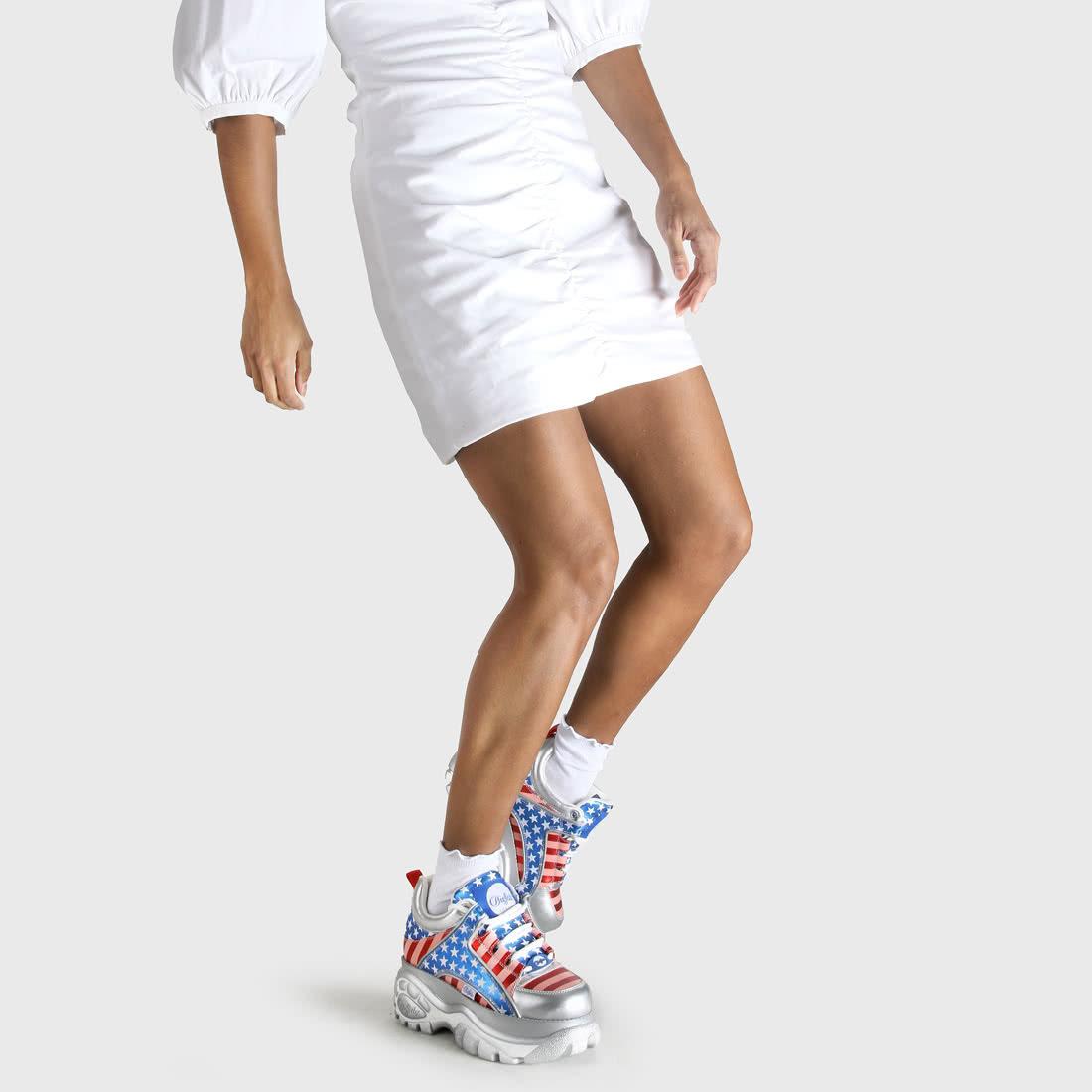 Buffalo Classic Sneaker USA-Flagge Rot/blau Online Kaufen