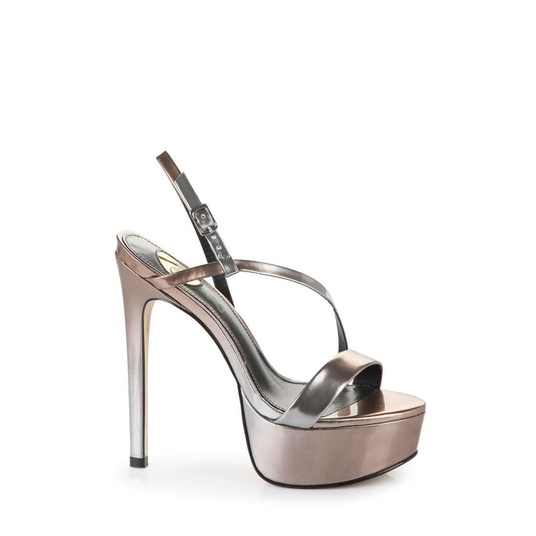 d03ea968e8 BUFFALO Buffalo high-heeled sandals with platform toe in graduated  anthracite