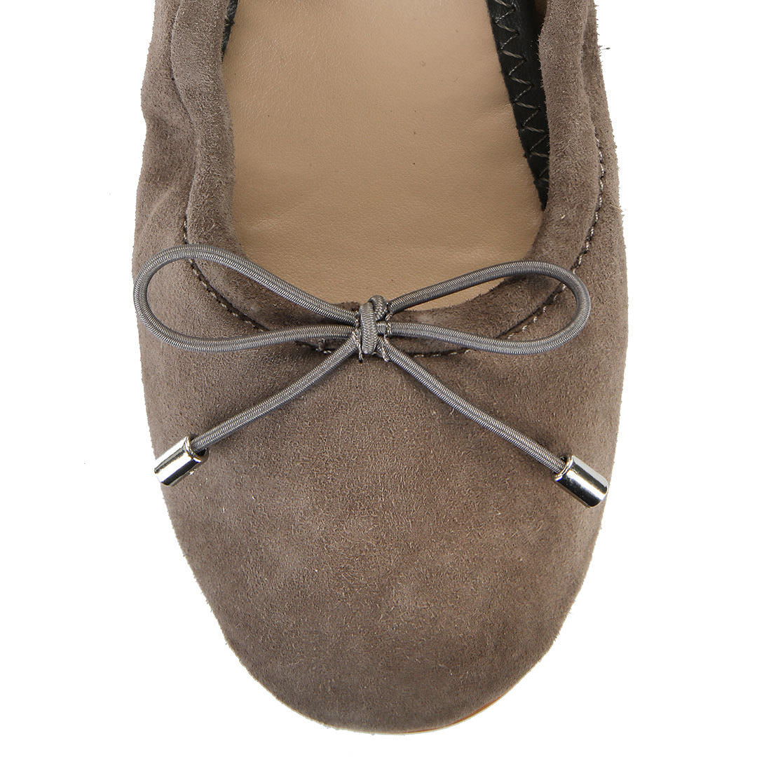 ballerinas in taupe