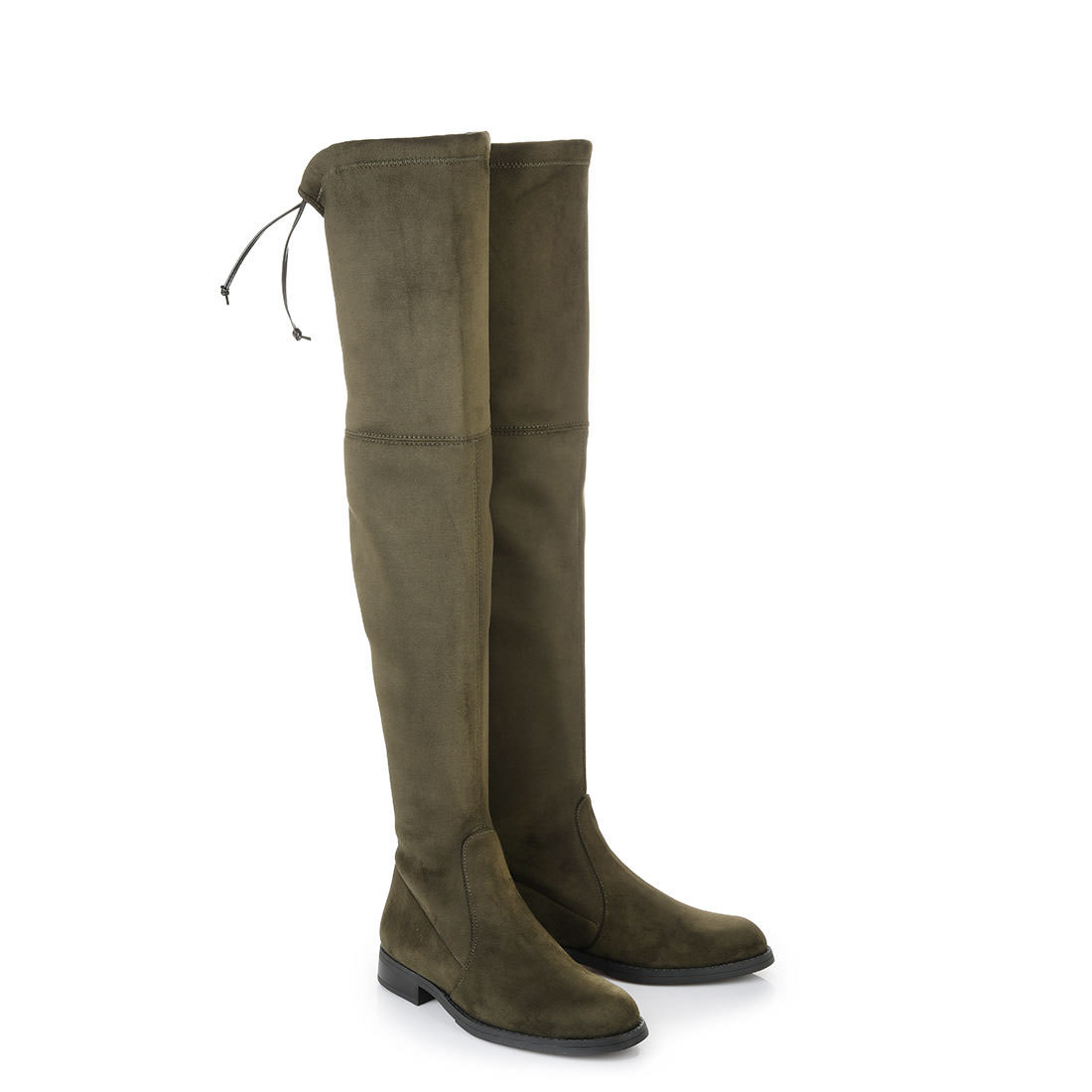 fc7a572fc88 Buffalo over-the-knee boots in khaki buy online in BUFFALO Online ...