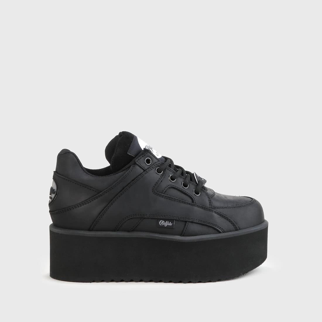 Rising Towers low sneaker nubuck leather black