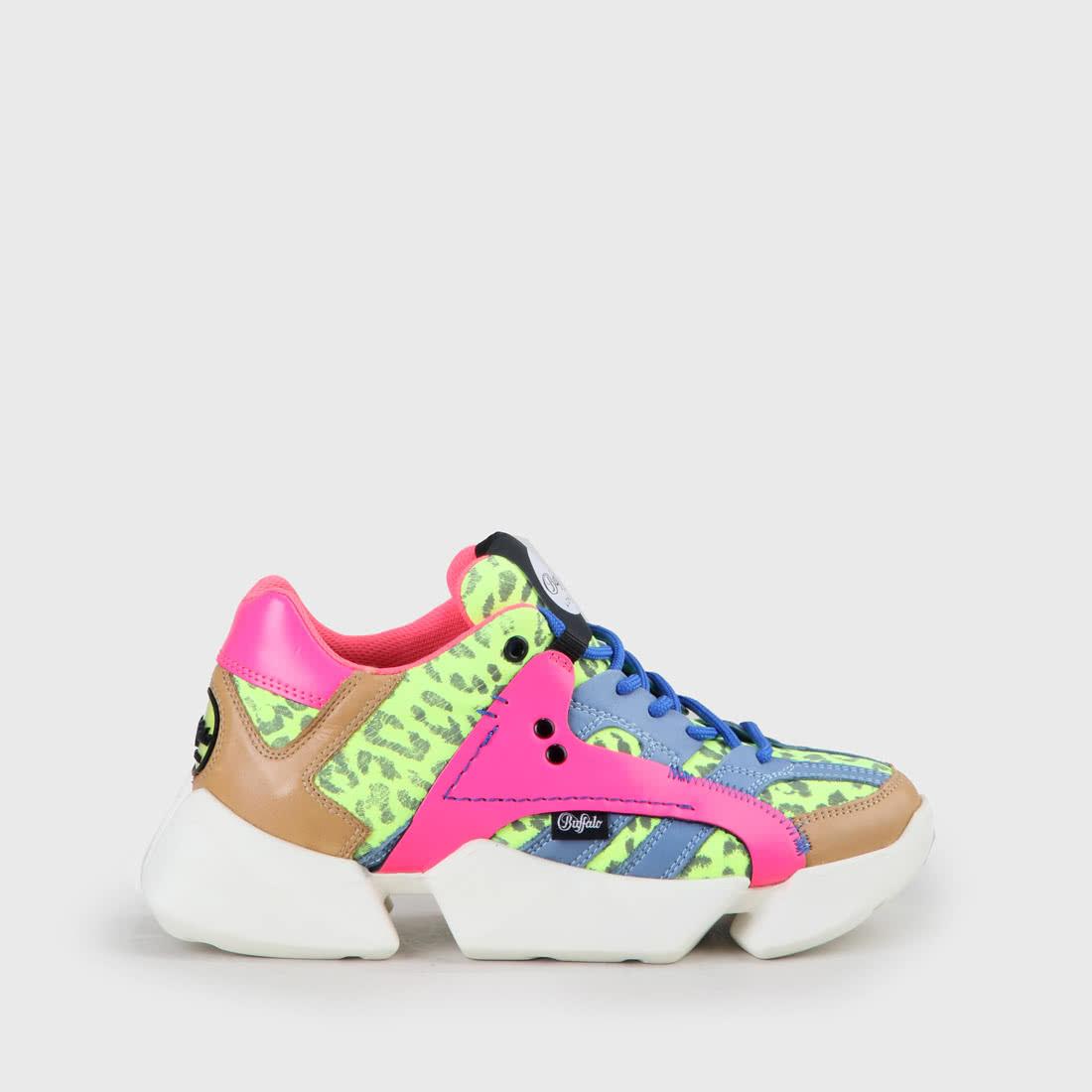 MTRCS One Sneaker Leder, neongelbneonpink