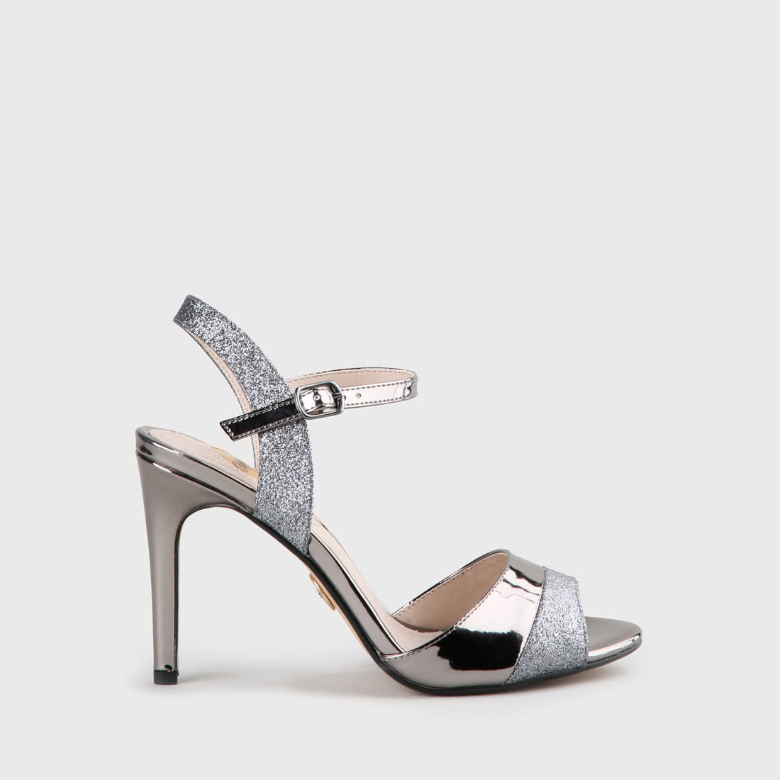 9c4181a34540 Aida sandals glitter lacquer look pewter buy online in BUFFALO ...