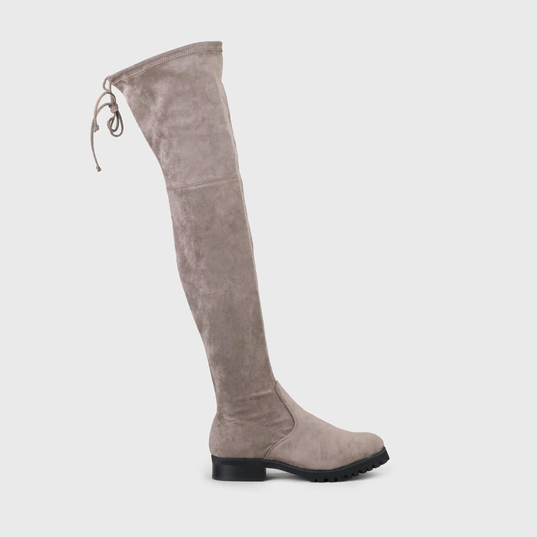 huge inventory undefeated x quality design Flory Overknee Boot suede look taupe