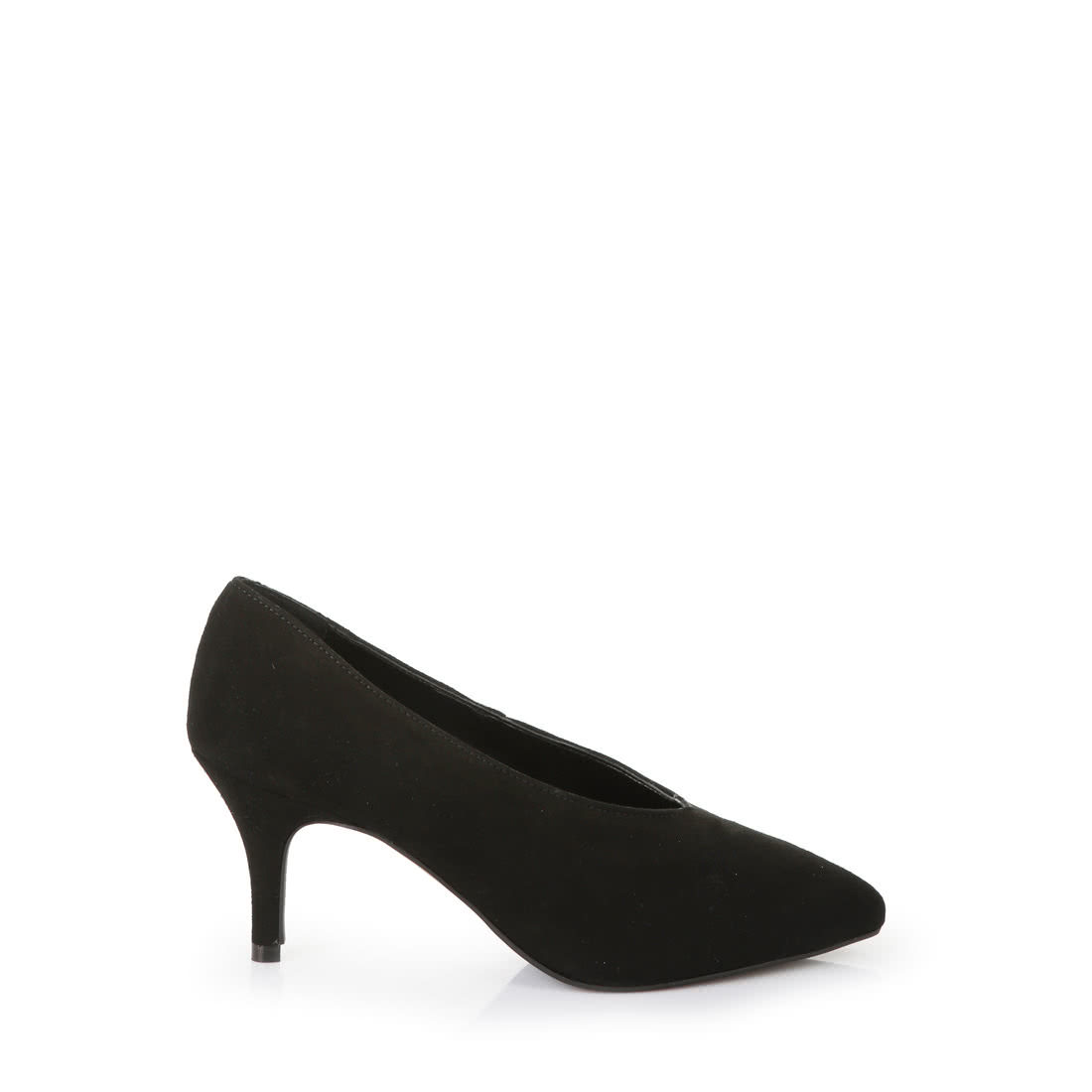 7033b72e2376 Buffalo pointed-toe V-cut courts in black suede buy online in ...