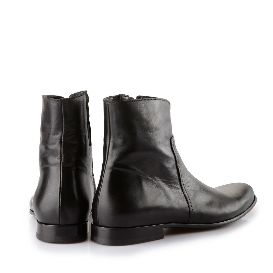 buffalo plateau ankle boots for men in black leather buy