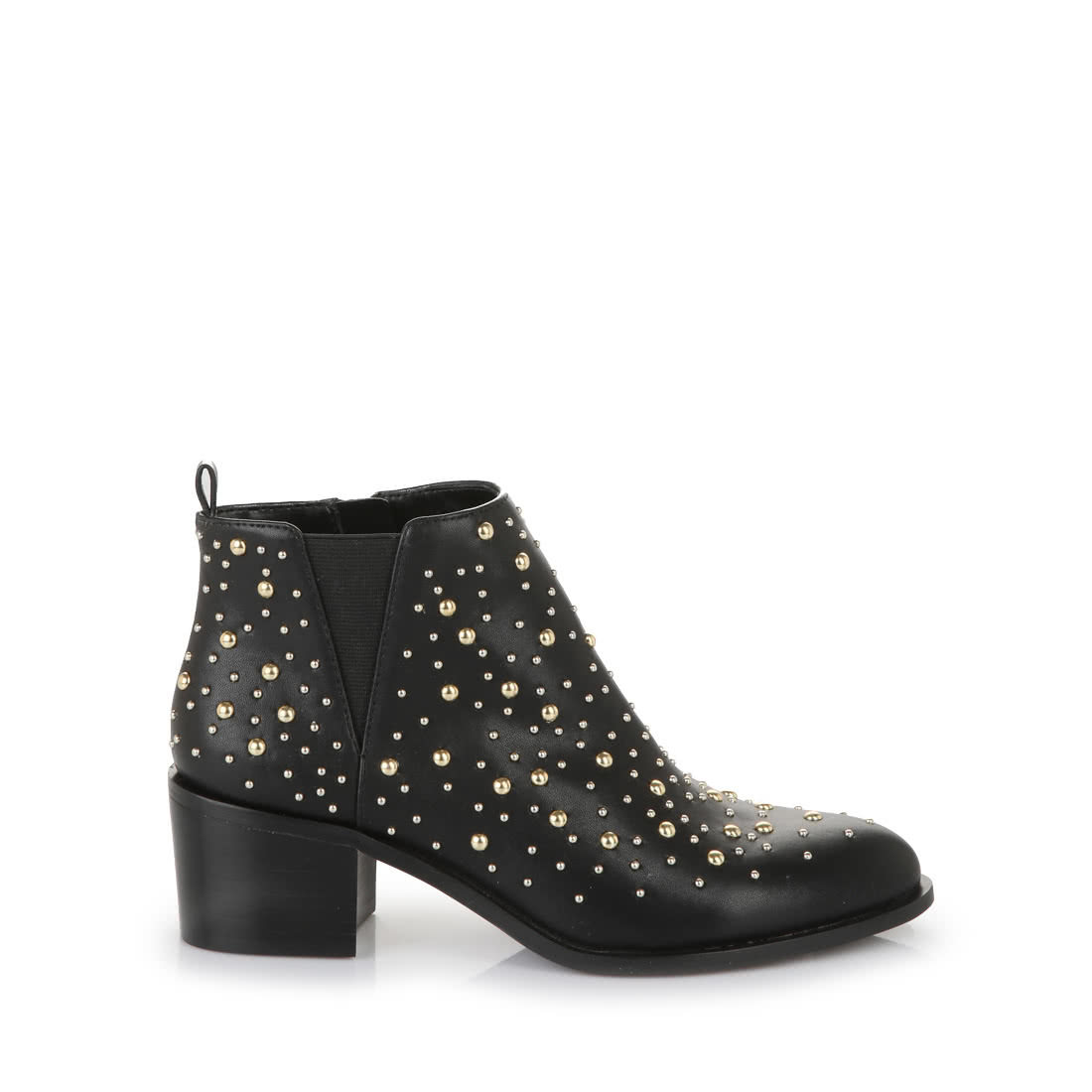 the latest ac474 f0257 Buffalo ankle boots in black with gold studs buy online in ...