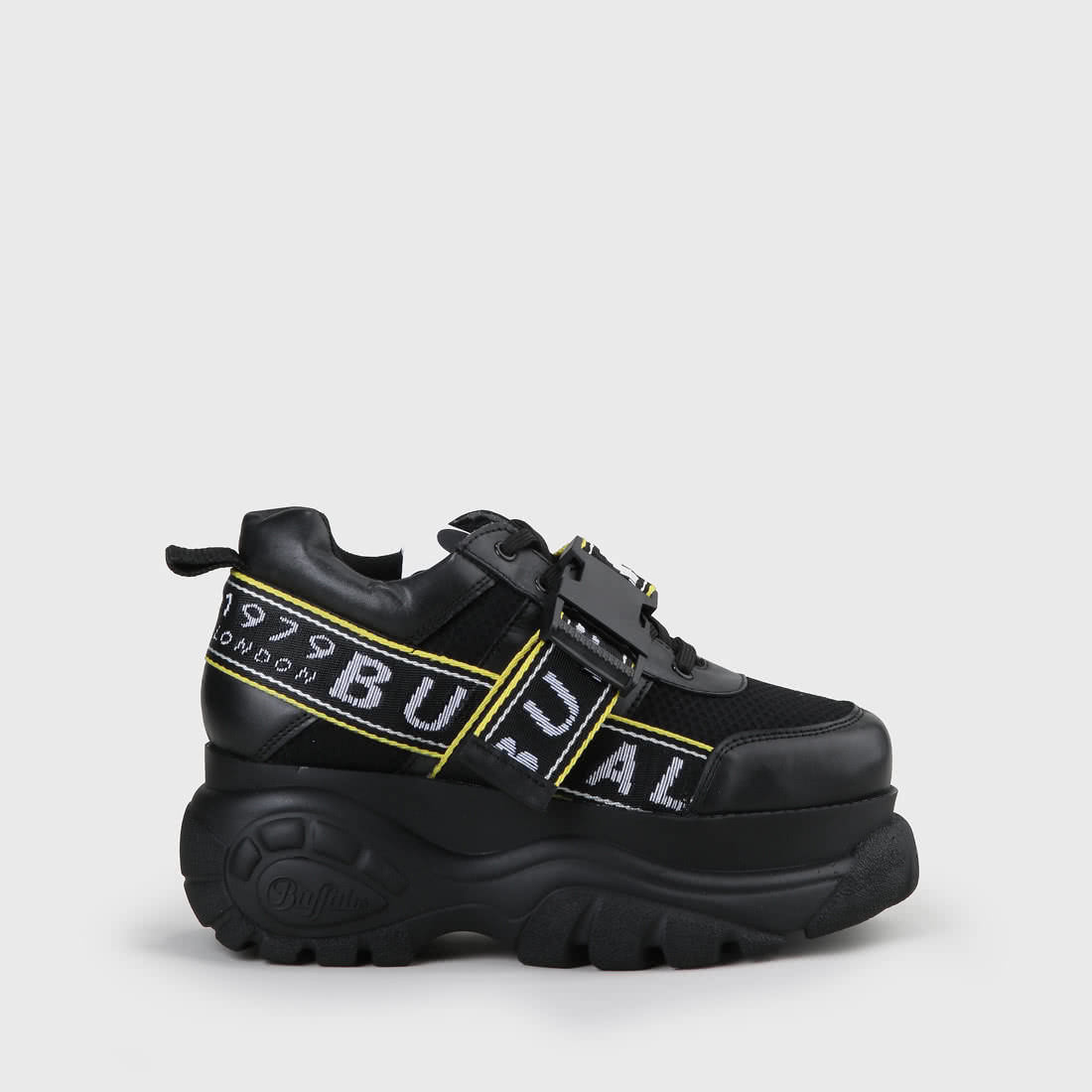 brand new e8d1b fbae7 Galip Plateau-Sneaker aus Leder Schwarz