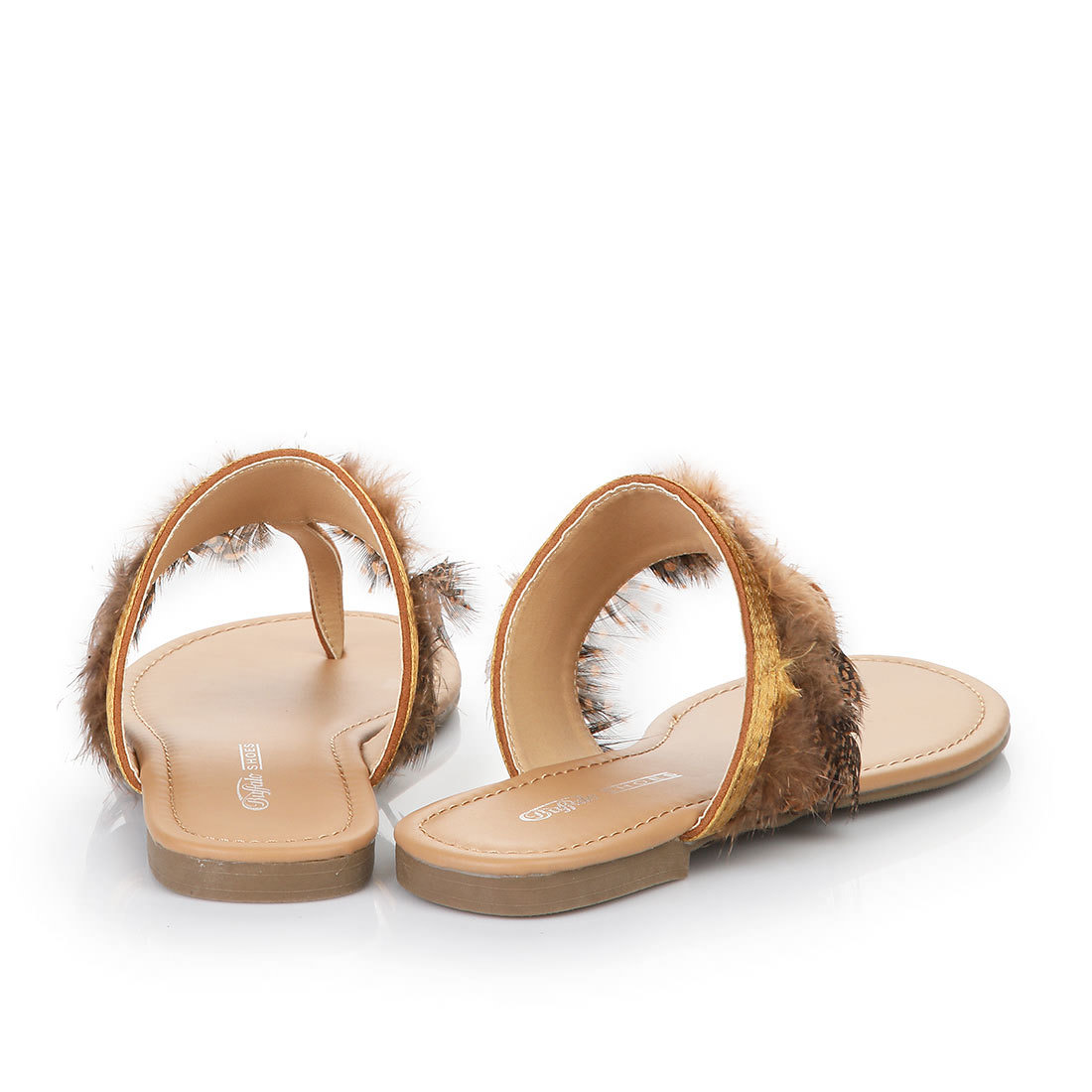 buffalo flip flop sandals in cognac buy online in buffalo. Black Bedroom Furniture Sets. Home Design Ideas