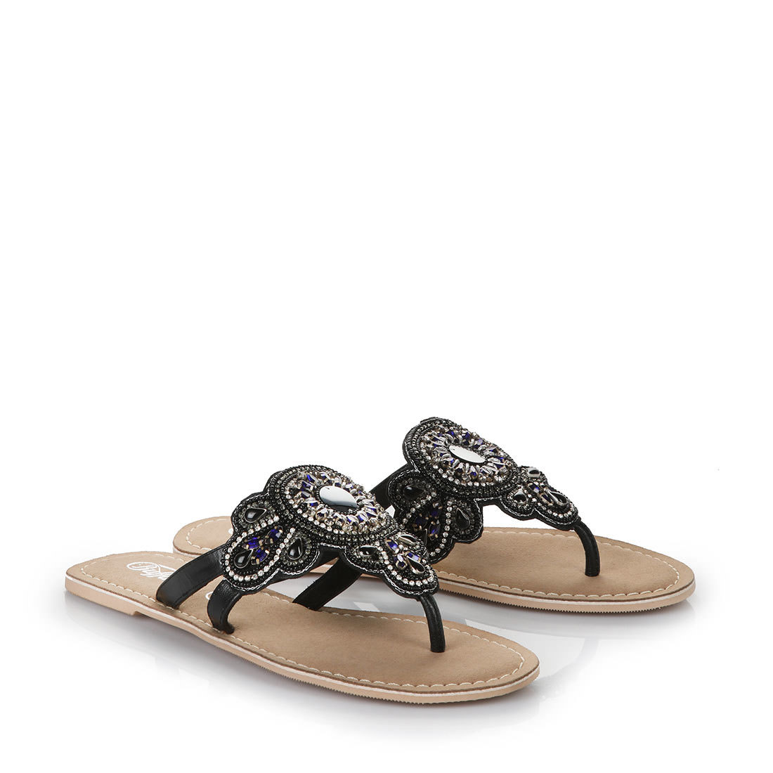 buffalo flip flop sandals in black buy online in buffalo. Black Bedroom Furniture Sets. Home Design Ideas