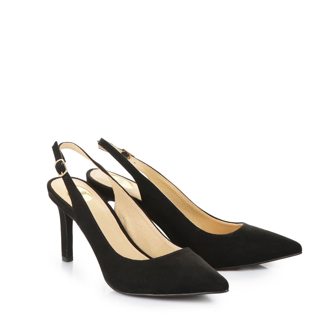 buy popular d0bf2 9daf8 Buffalo sling-back heels in black buy online in BUFFALO ...