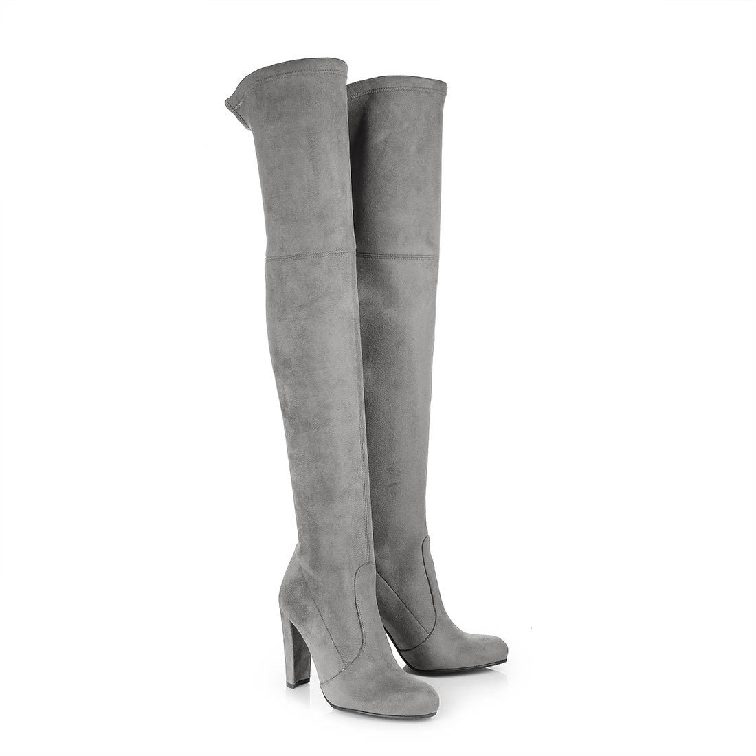 buffalo over the knee boots in grey buy online in buffalo. Black Bedroom Furniture Sets. Home Design Ideas