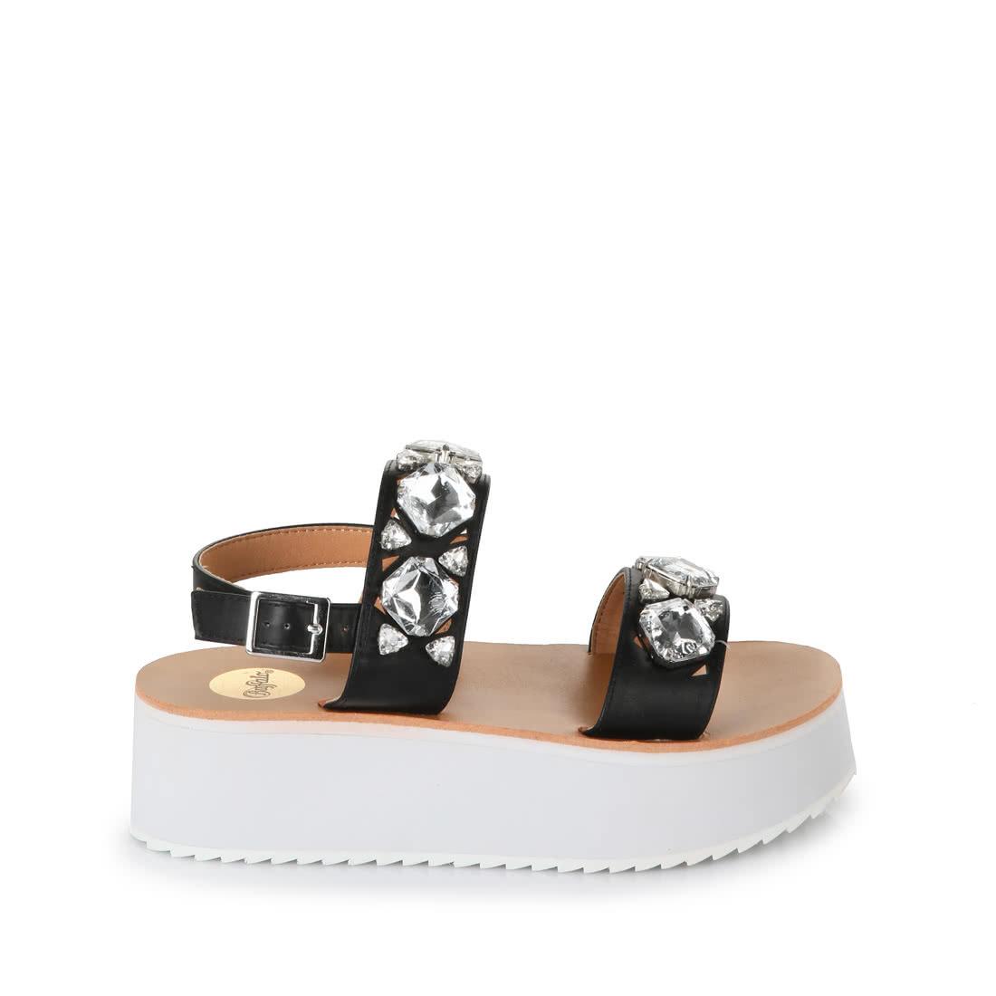 6e98709ad9c7 Buffalo platform sandals with gemstones buy online in BUFFALO Online ...