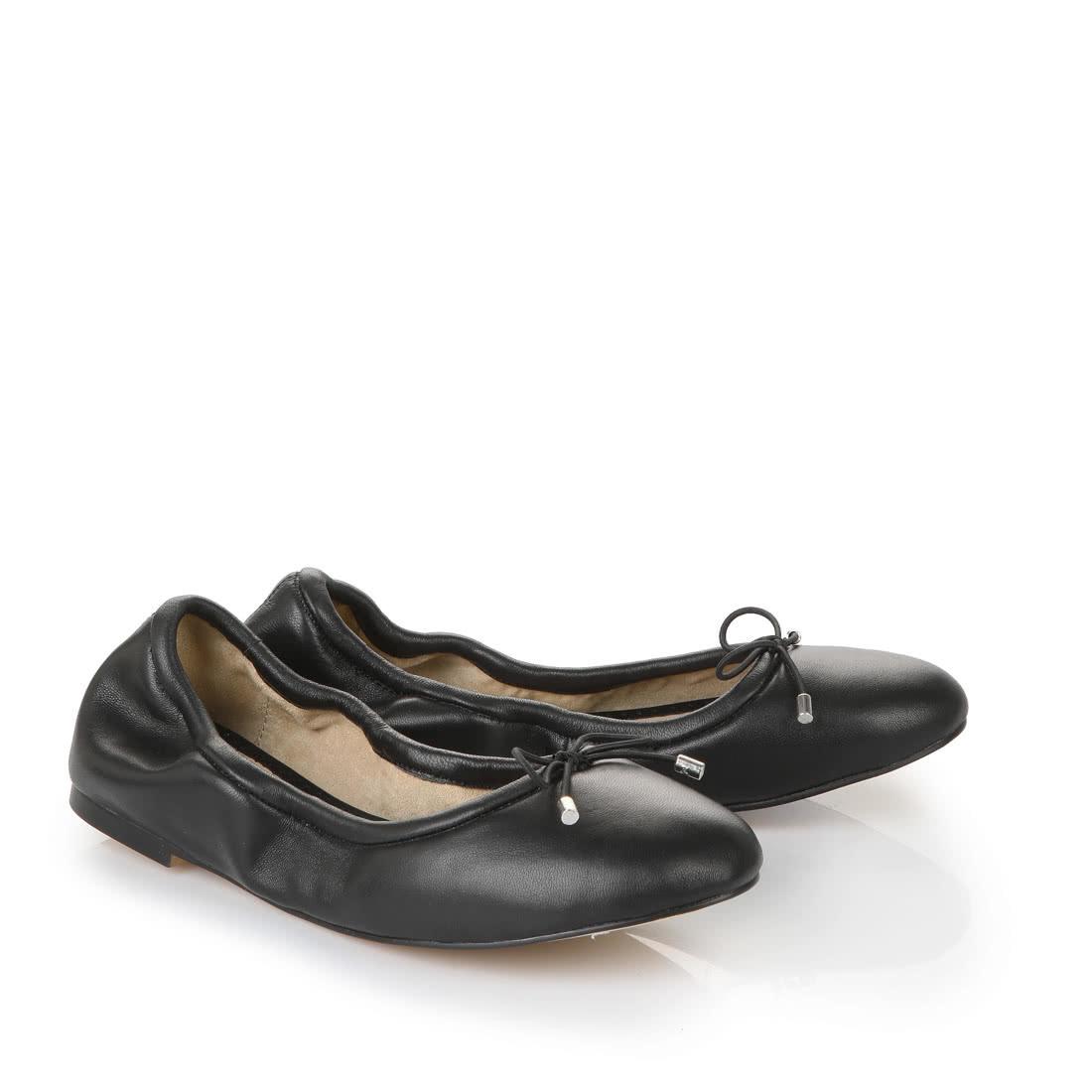 a6e57edf567 Buffalo Ballerina in schwarz aus Leder online kaufen | BUFFALO®