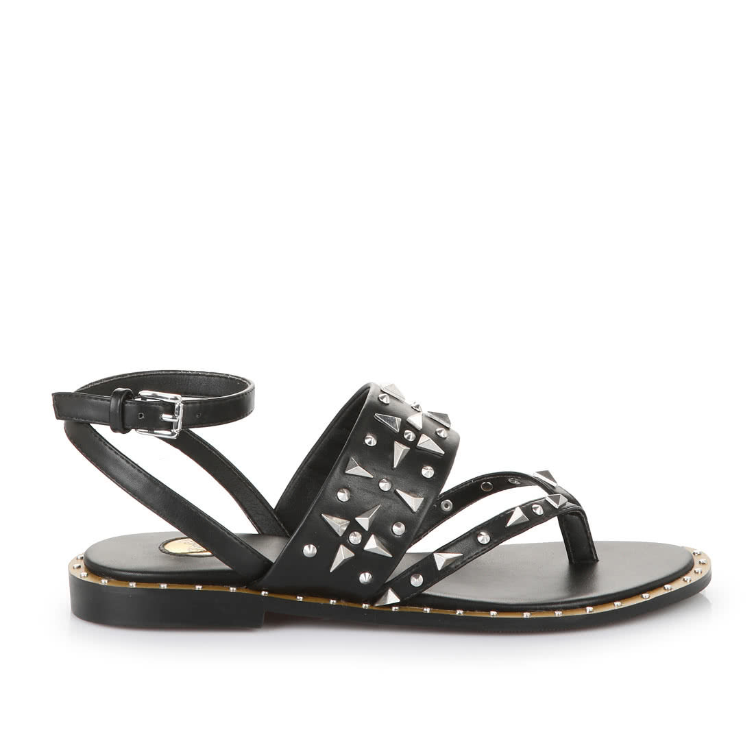 5ecfda7e7d8f Buffalo flip flop sandals in black with studs buy online in BUFFALO ...
