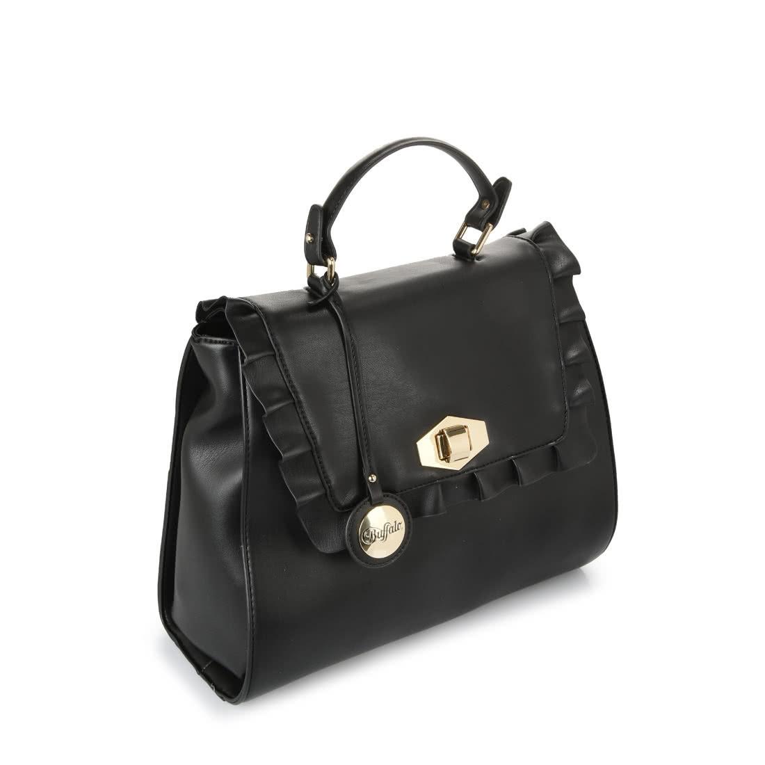 3cb245012b32 Buffalo black handbag with frills buy online in BUFFALO Online-Shop ...