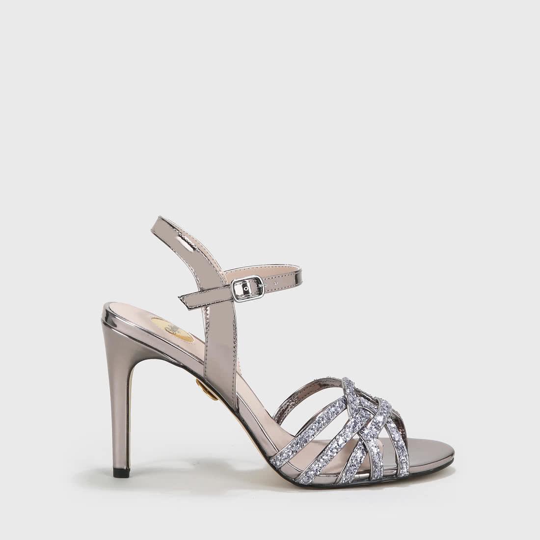 Afterglow Sandalette metallic zinnfarben