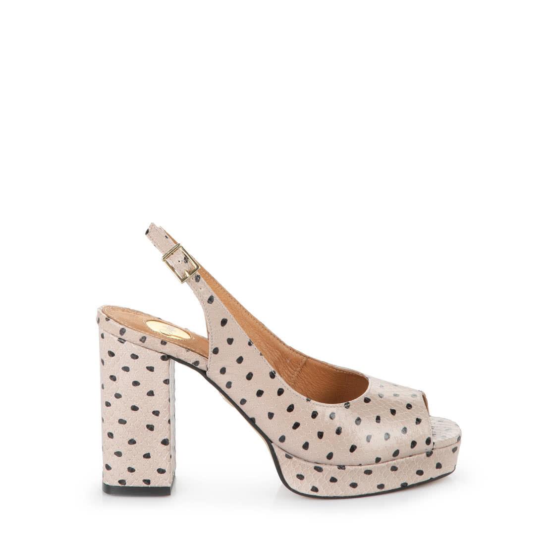 separation shoes 4387f e5435 Buffalo Plateau-Sandalette in beige in Reptil-Optik online ...