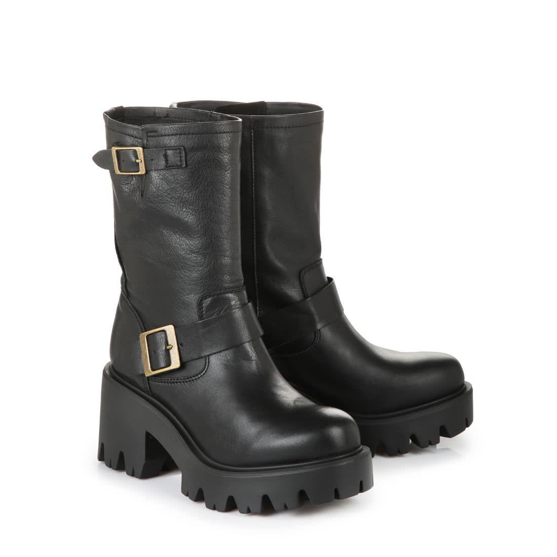 Buffalo Leather Platform Ankle Boots Buy Online In Buffalo