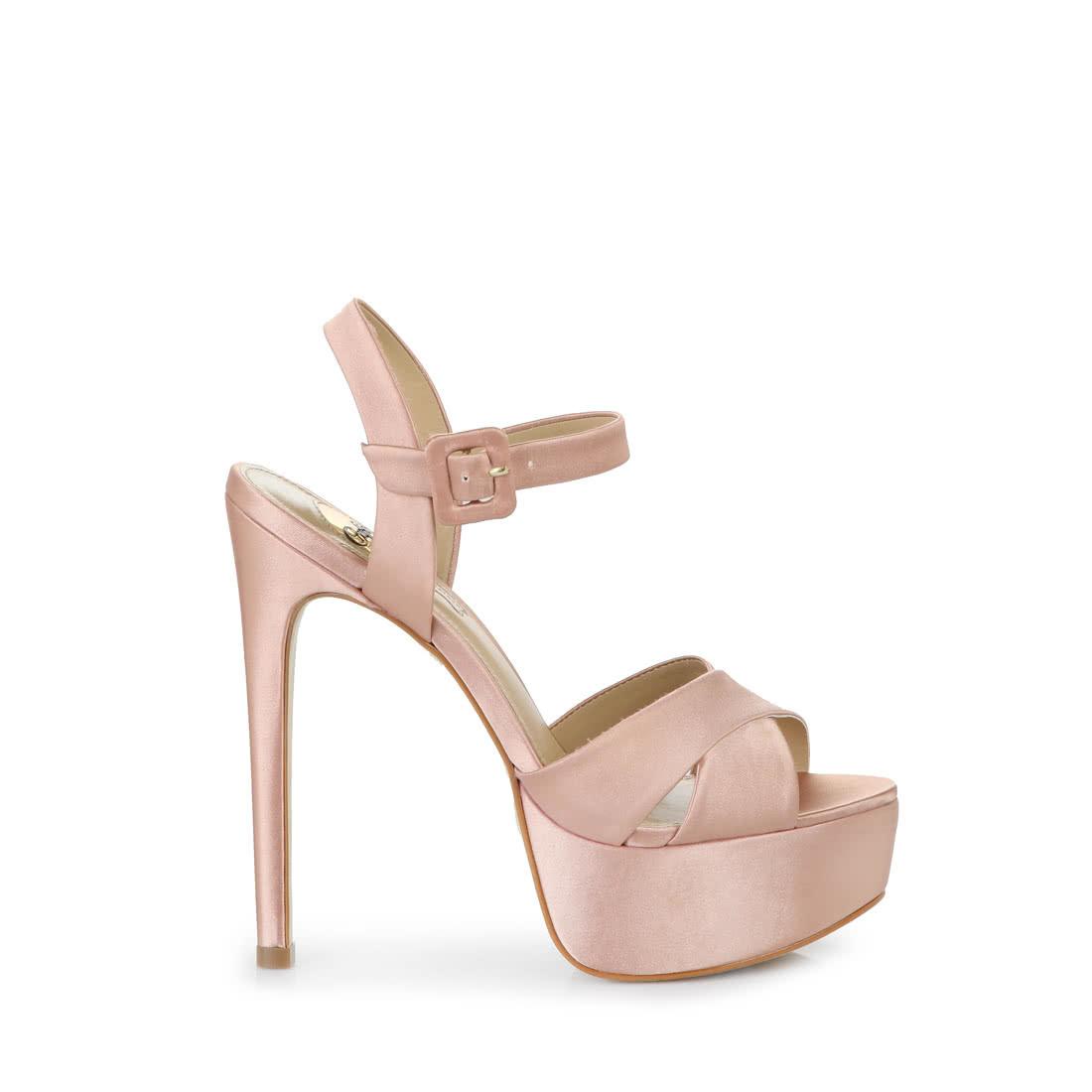 470cf57b76f Buffalo high-heeled platform sandals in dusty pink buy online in ...