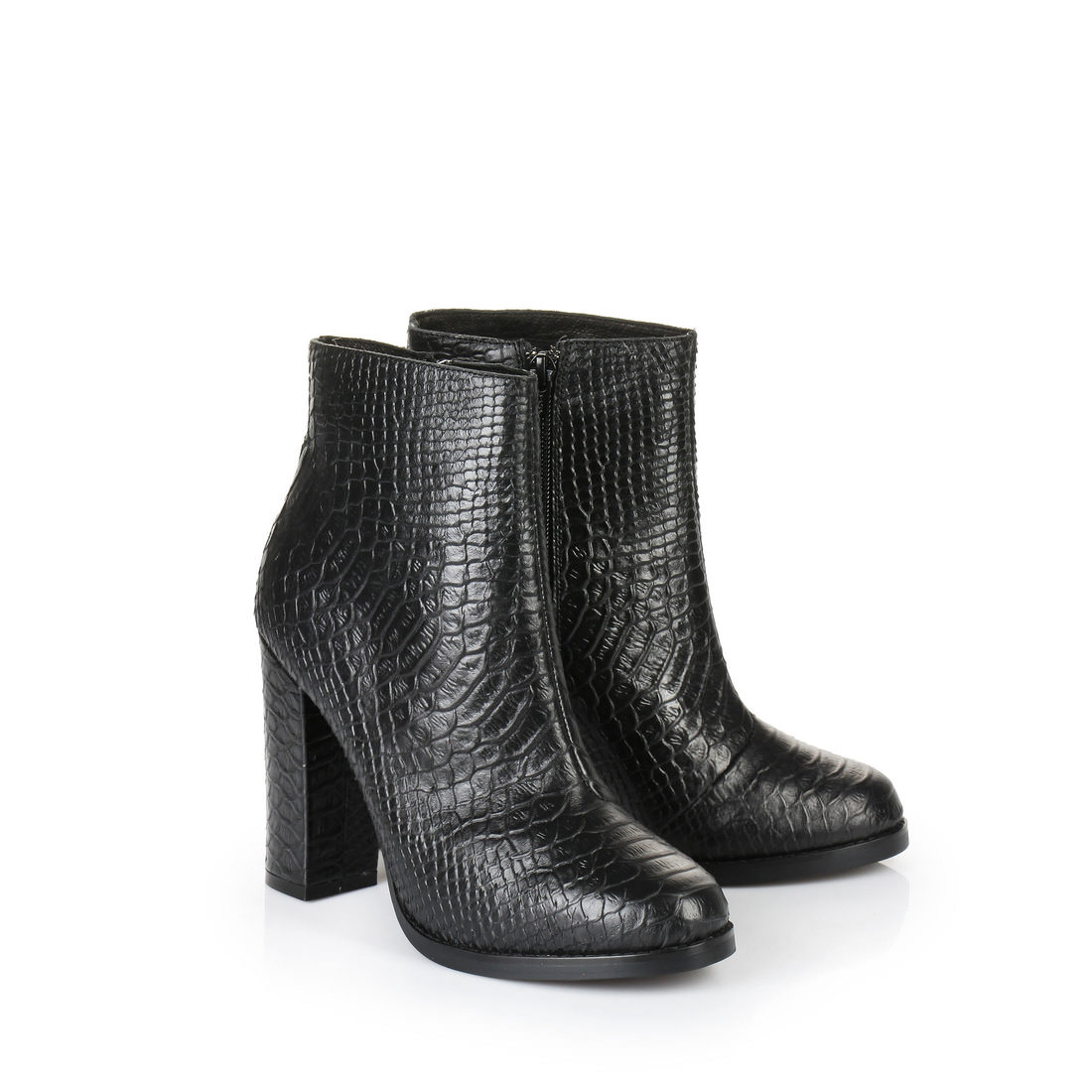 buffalo plateau heel ankle boots with snakeskin design buy. Black Bedroom Furniture Sets. Home Design Ideas