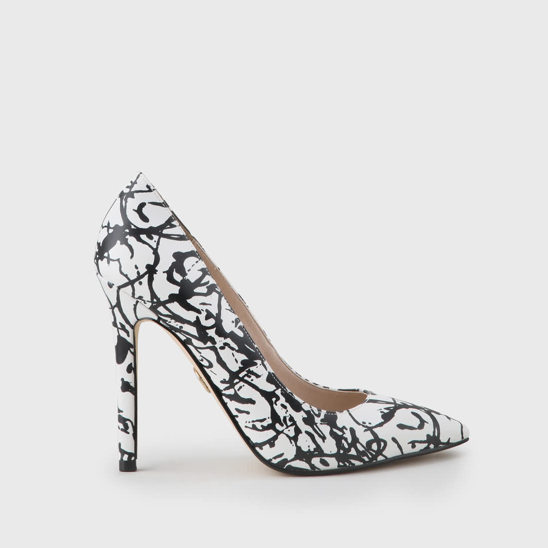 temperament shoes marketable discount Amica party pumps graffiti print black/white buy online in ...