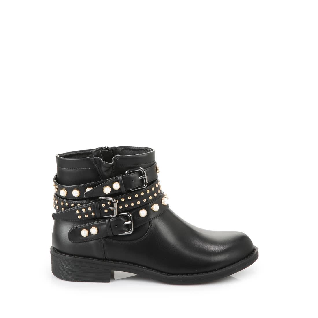 Vereinigte Staaten großer Rabatt auf Füßen Aufnahmen von Buffalo Booties in schwarz mit Perlen online kaufen | BUFFALO®
