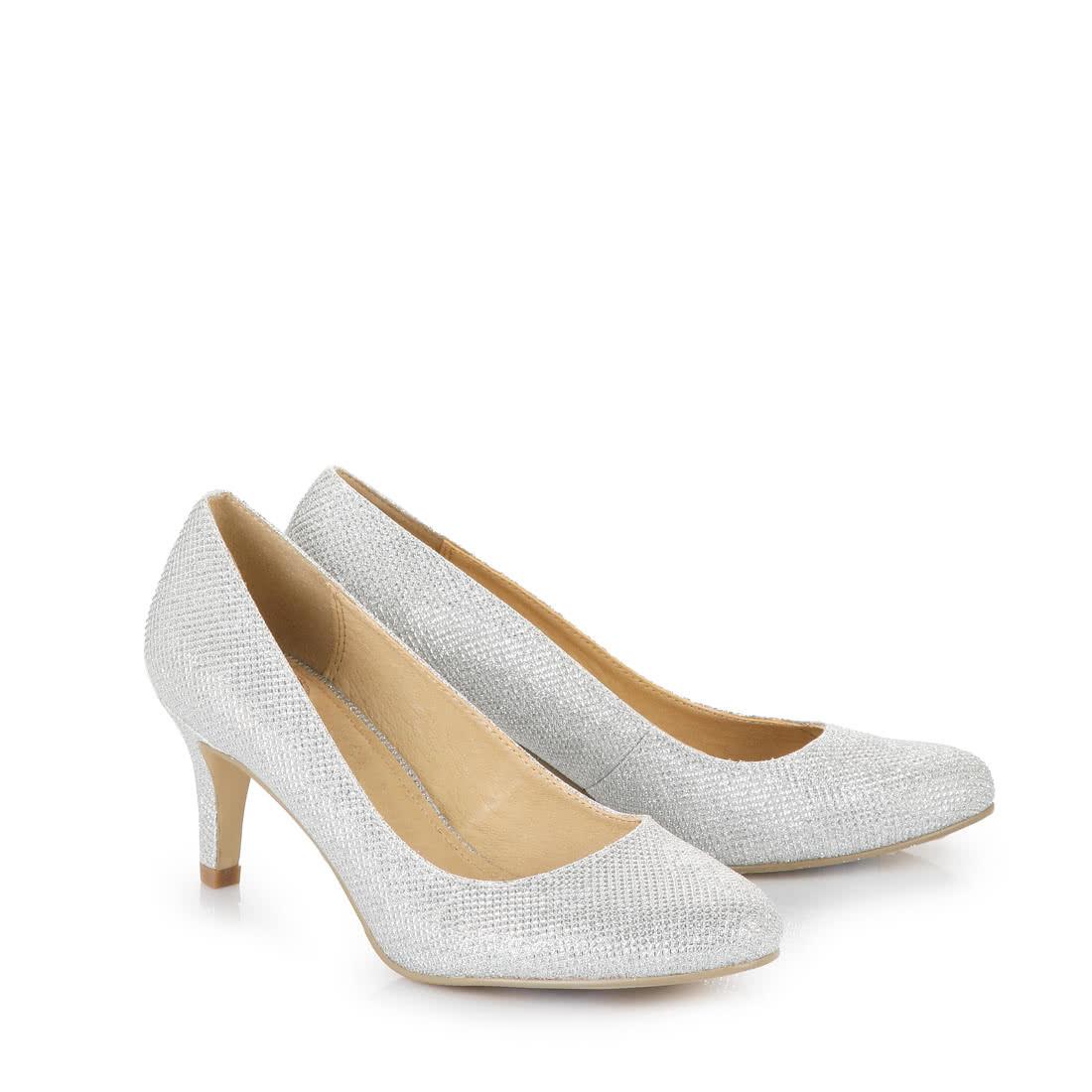 buffalo heels in silver buy online in buffalo online shop. Black Bedroom Furniture Sets. Home Design Ideas