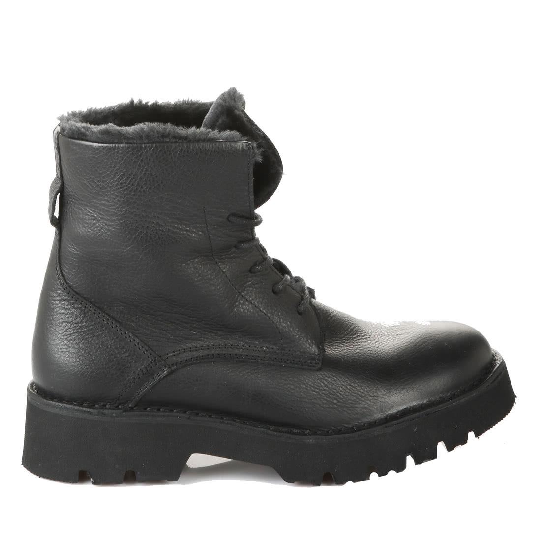 lowest price 20bde ebc03 Stucco Boot aus Leder mit Fell schwarz online kaufen | BUFFALO®