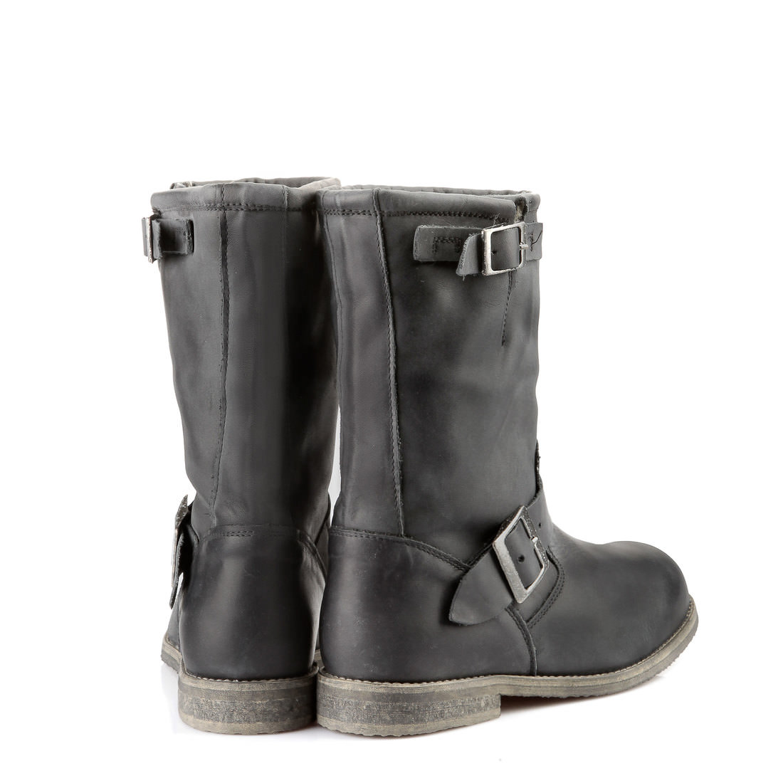 lined buffalo biker boots in black buy online in buffalo online shop buffalo. Black Bedroom Furniture Sets. Home Design Ideas