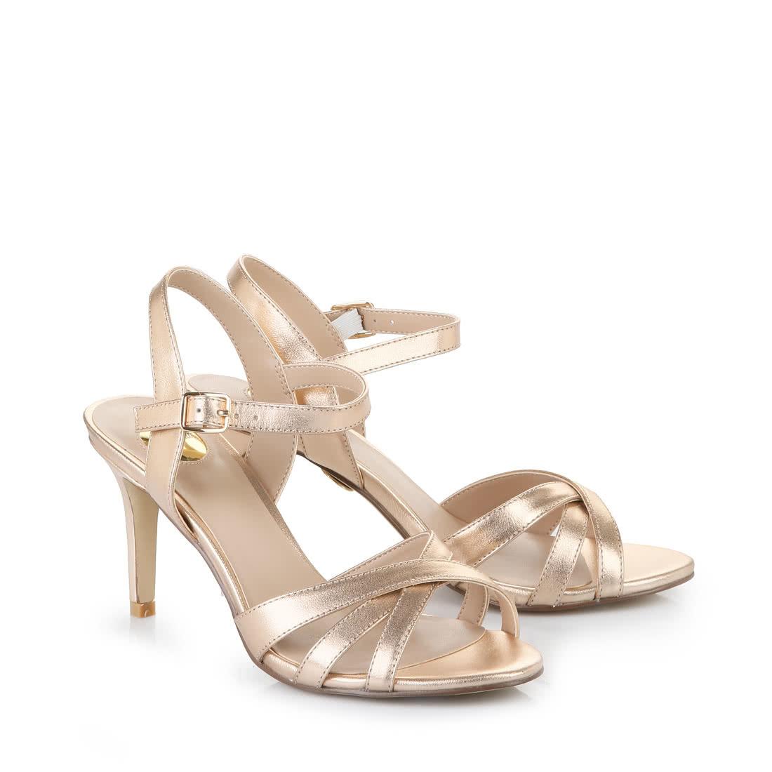 7c0ac4a273 Buffalo high-heeled sandals in bronze buy online in BUFFALO Online ...
