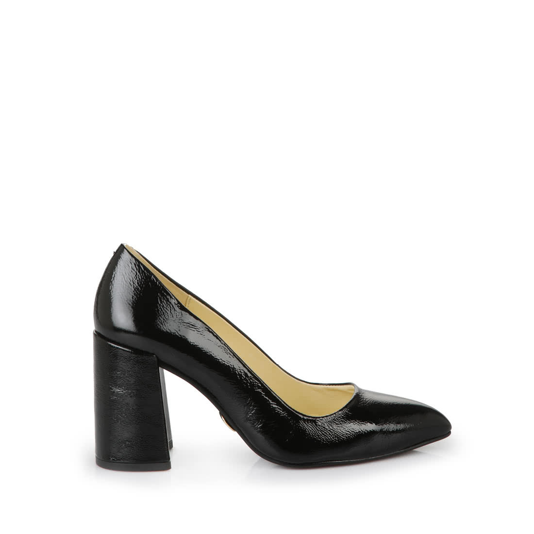 7e26b1ba7b9 Buffalo pointed-toe black courts with block heel buy online in ...