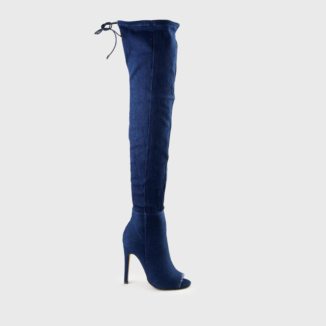 6e9a6cb916114 Bufflao Overknee-Stiefel in jeansblau