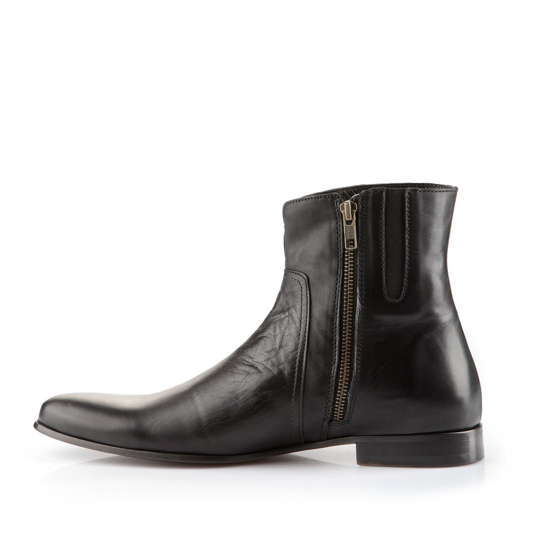 buffalo plateau ankle boots for men in black leather buy online in buffalo online shop buffalo. Black Bedroom Furniture Sets. Home Design Ideas