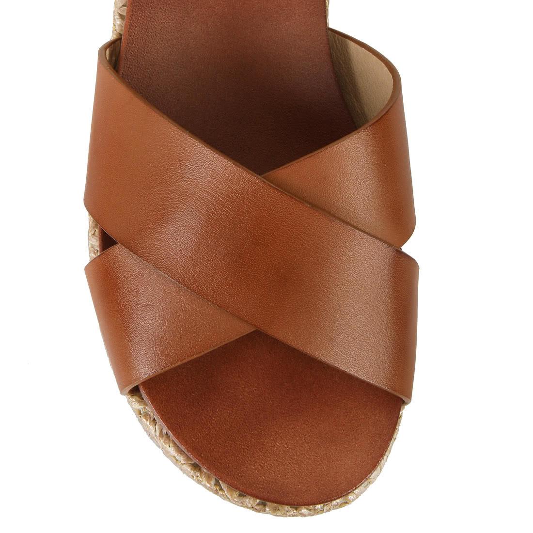 buffalo keil sandalette in cognac online kaufen buffalo. Black Bedroom Furniture Sets. Home Design Ideas