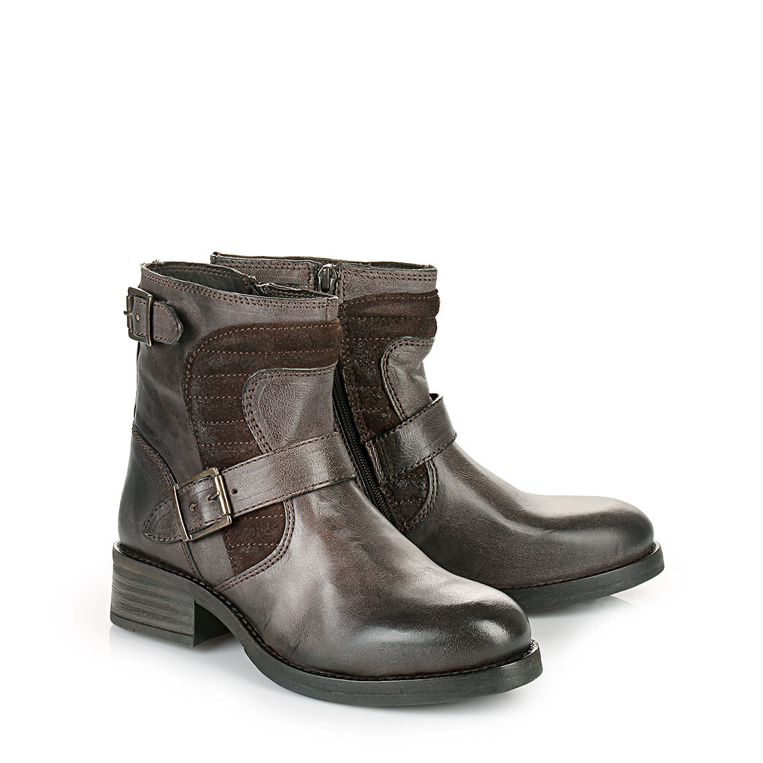 buffalo biker boots in dark brown buy online in buffalo online shop buffalo. Black Bedroom Furniture Sets. Home Design Ideas